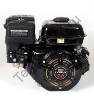 Lifan 170FD D20 (7,0 л. с.) с катушкой освещения 3Ампер (36Вт) четырехтактный бензиновый двигатель, мощностью 7,0 л. с., и диаметром выходного вала 20 мм. Комплектуется ручным и электрическим стартом.