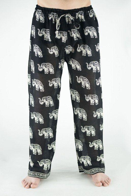 Легкие индийские штаны со слонами (Москва)