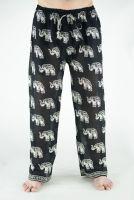 Прямые летние индийские мужские штаны со слонами. Купить в Москве
