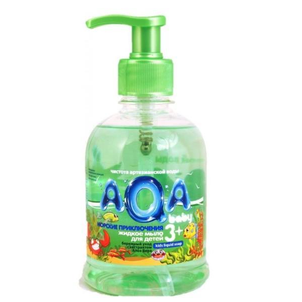 """AQA baby Жидкое мыло для детей """"Морские приключения"""" , 300 мл."""