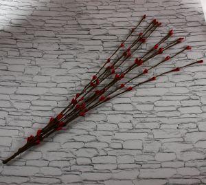 `Веточка проволока 40 см. Цвет красный