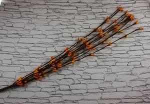 `Веточка проволока 40 см. Цвет оранжевый