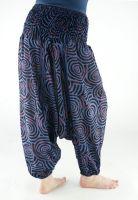 Женские синие штаны алладины из Индии, хлопок. Купить в Москве