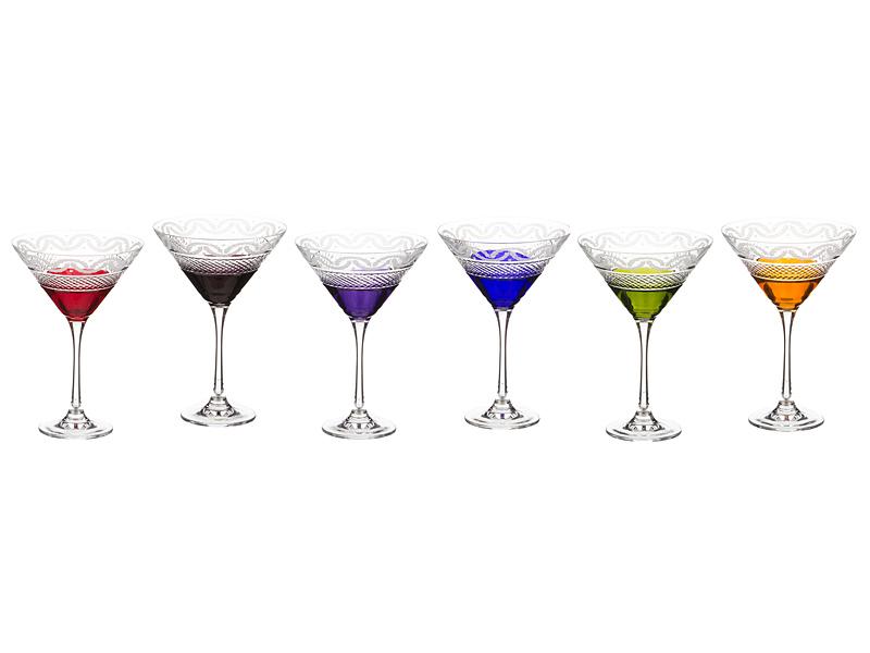 Набор бокалов для мартини 220 мл, 6 шт.