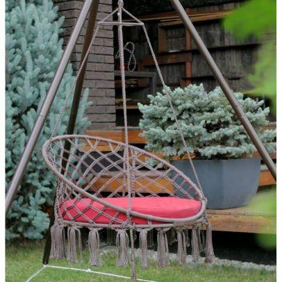 Подвесное кресло АРУБА + каркас МАЙЯ (сталь)