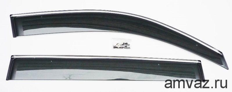 Дефлекторы неломающиеся на боковые стекла VORON GLASS серия Samurai CITROEN C-CROSSER 2007-н.в. /накладные/ скотч /к-т 4 шт./