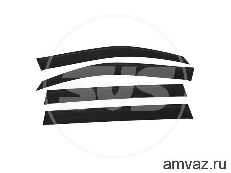 Дефлекторы неломающиеся на боковые стекла VORON GLASS серия Samurai Nissan Qashqai II  2013-н.в./кроссовер/накладные/скотч/к-т 4шт./