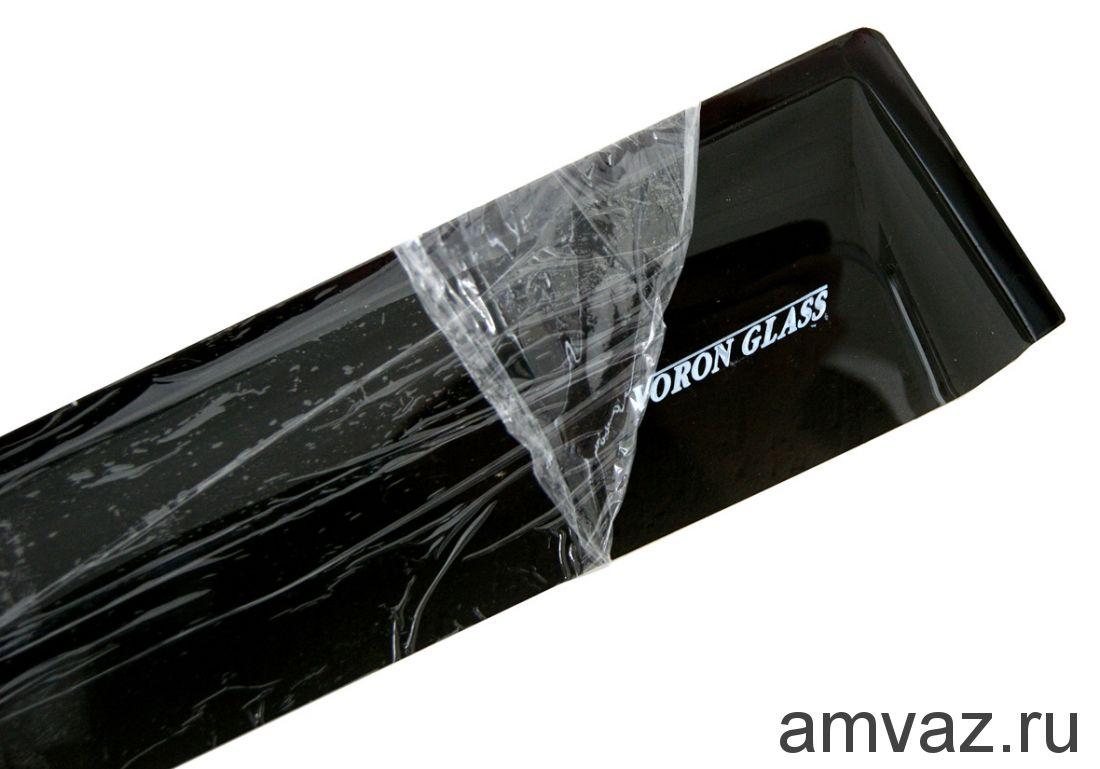 Дефлекторы на боковые стекла Voron Glass серия CORSAR Ford Kuga I 2008-2012/кроссовер/накладные/скотч /к-т 4 шт./
