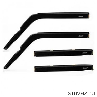 Дефлекторы на боковые стекла Voron Glass серия CORSAR Mazda CX-5 2011-н.в./кроссовер/накладные/скотч/к-т 4 шт./