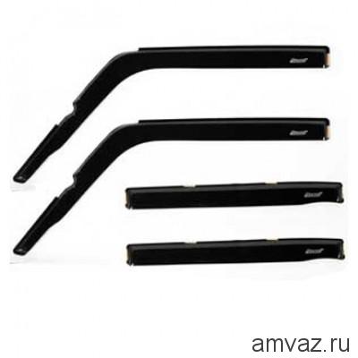 Дефлекторы на боковые стекла Voron Glass серия CORSAR Opel Meriva B 2010-н.в./минивэн/накладные/скотч /к-т 4 шт./