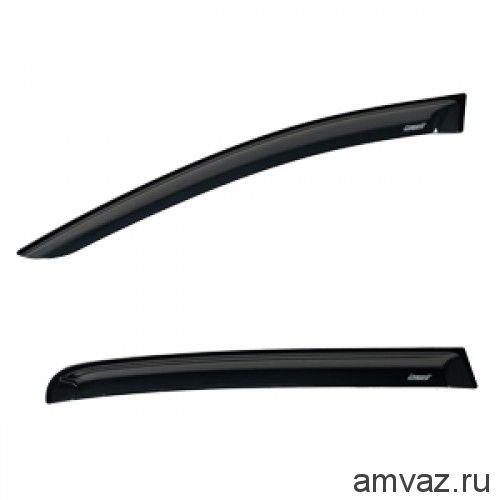 Дефлекторы на боковые стекла Voron Glass серия CORSAR Peugeot Partner II 2d 2008-н.в./фургон/накладные/скотч /к-т 2 шт./