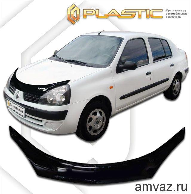 Дефлекторы на боковые стекла Voron Glass серия CORSAR Renault Symbol I 1999-2008/седан/накладные/скотч /к-т 4 шт./