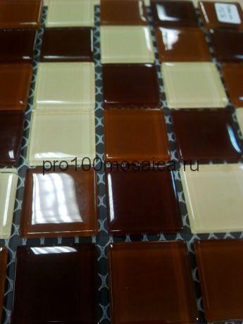 Toffee mix стекло 25*25. Мозаика серия CRYSTAL, размер, мм: 300*300 (BONAPARTE)
