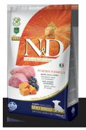 N&D Dog Grain Free Pumpkin Lamb & Blueberry Mini Puppy Беззерновой корм для щенков, беременных и кормящих собак мелких пород Ягненок/тыква/черника (7 кг)