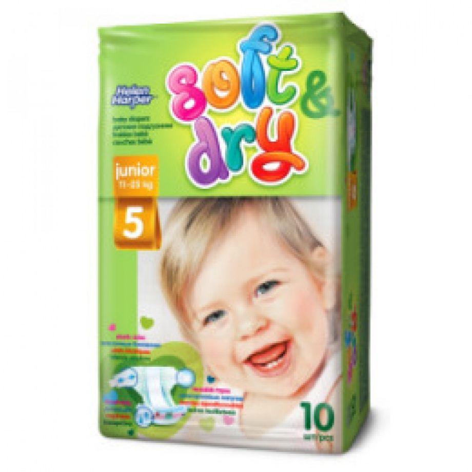 Helen Harper  Детские подгузники Soft Dry junior (11-25 кг) 10 шт