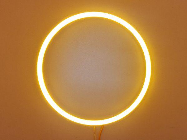 Светодиодные дневные ходовые огни — Ангельские глазки желтого цвета 100 мм. 1шт.