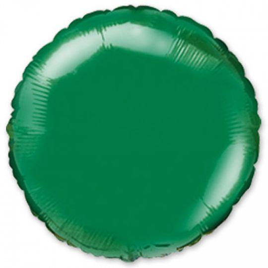 Круг зеленый шар фольгированный с гелием