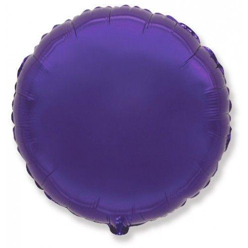 Круг фиолетовый шар фольгированный с гелием