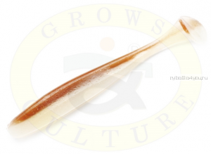 "Виброхвост Grows Culture Diamond Easy Shiner 4"" 10 см/ упаковка 7 шт/ цвет: 412"