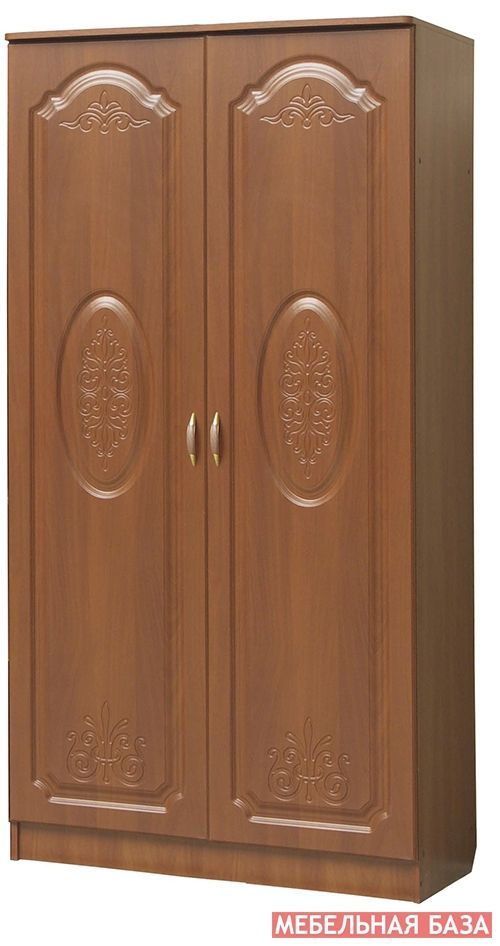 Шкаф 2-х дверный с полками,  Модуль 05 к гостиной Наполеон-10,  МДФ матовый