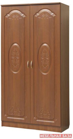 Шкаф 2-х дверный со штангой,   Модуль 06 к гостиной Наполеон-10,  МДФ матовый