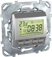 Электронный термостат Unica Top 8А (от +5 до +30 градусов) цвет Алюминий