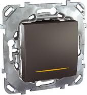 Двухполюсный однокл. выкл. Unica Top 16A с контрольной лампой цвет Графит