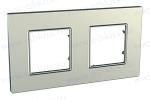Рамка Unica Quadro 2 поста серебро