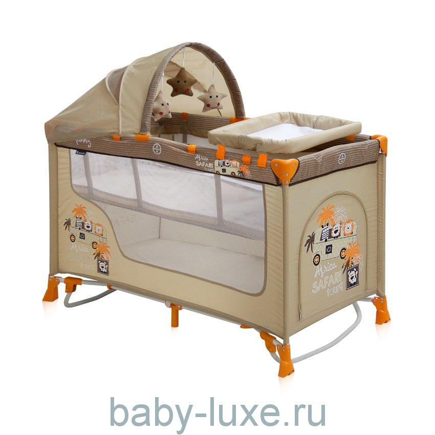 Манеж-кровать Lorelli Nanny 2 Plus Rocker