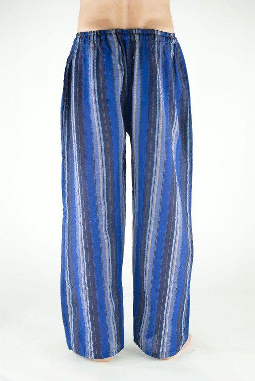 НЕТ В НАЛИЧИИ Синие мужские штаны в полоску (Москва)