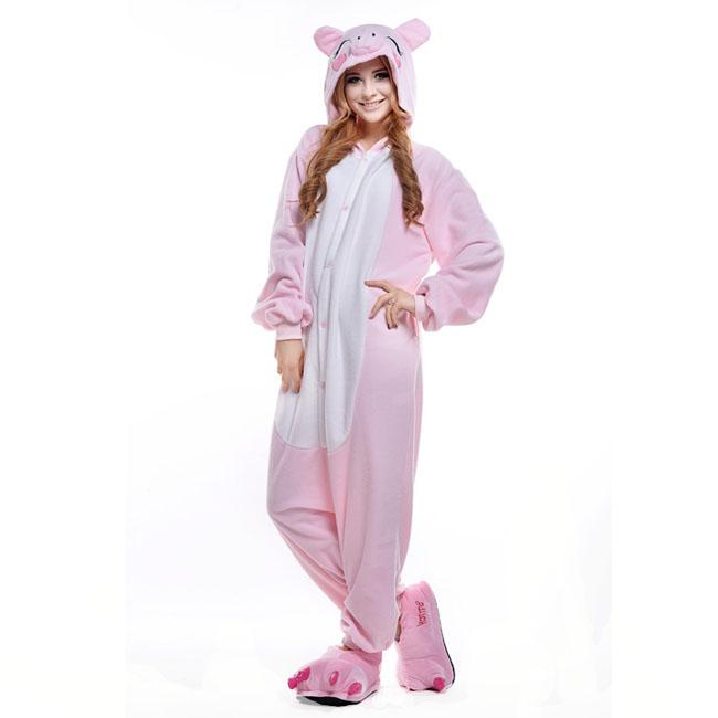 Пижама Кигуруми Свинка Розовая Премиум