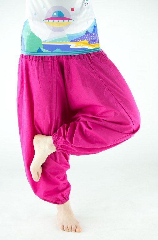 Розовые хлопковые штаны алладины (отправка из Индии)