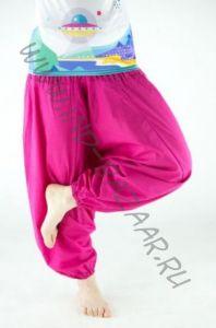 Розовые хлопковые штаны алладины