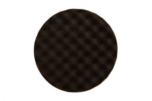 Рельефный поролоновый полировальный диск 150мм, чёрный, 2 шт./уп.