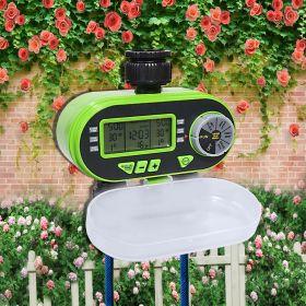 Цифровой садовый таймер полива Aqualin с датчиком дождя (2 клапана)