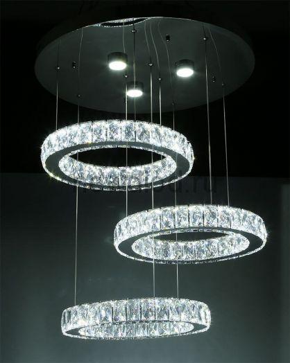 Хрустальная светодиодная люстра 65Вт DW-8821