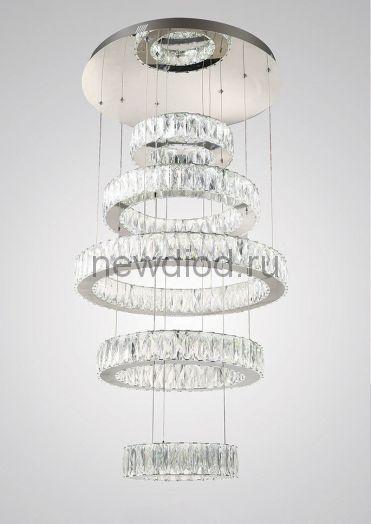 Хрустальная светодиодная люстра 192Вт DW-8814