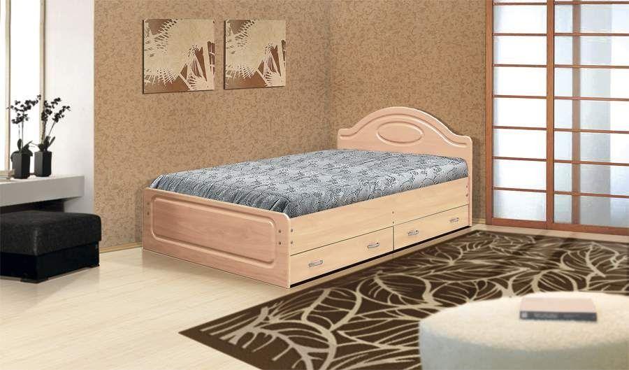 Кровать с 2  ящиками Мечта  МДФ глянец