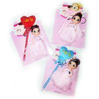 Детский набор брелок-кукла с ручкой
