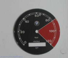 Табло BMW с красным сектором