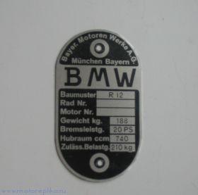 Табличка BMW R-12
