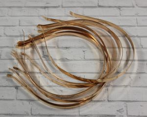 `Ободок-основа металл, 7 мм, цвет: золото.