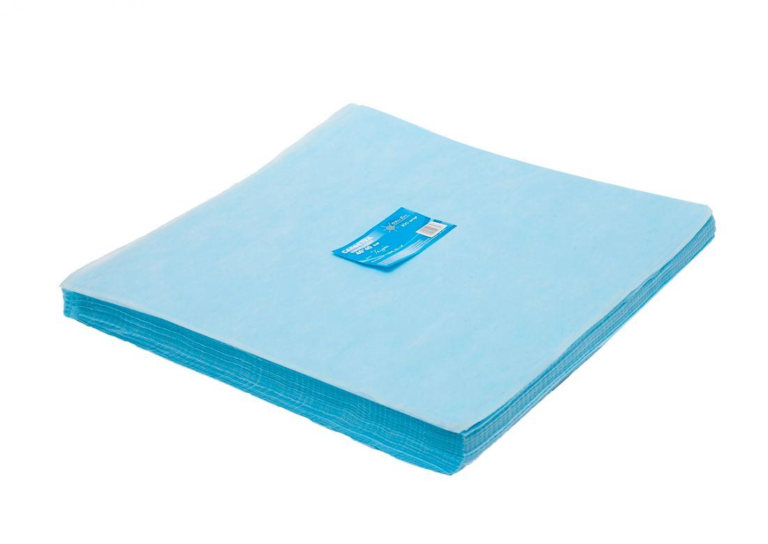 Салфетка одноразовая 40*40 SMS 17 голубой White line №200шт пачка