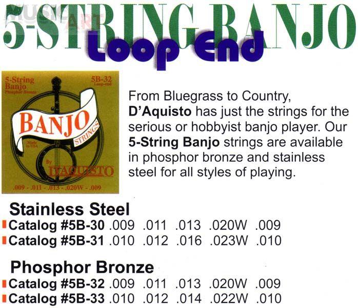 D'Aquisto #5B-31 Струны для банджо