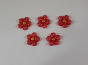 "Кабошон ""Цветок"", пластик, 23 мм, цвет - розовый (1уп=50шт)"