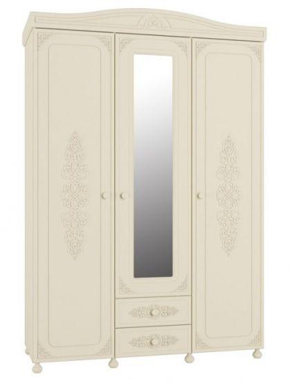 Шкаф 3-х створчатый с зеркалом АС-27