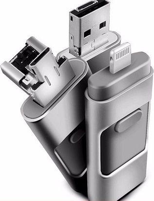 USB накопитель Флешка на iphone + micro 5/5S/5C 16 ГБ