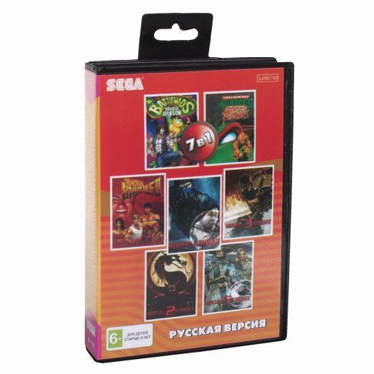 Sega картридж 7в1 (BS-7101) Bare Knuckle 2 /Battletoads Doub Dragon /Mortal Kombat  /Mor