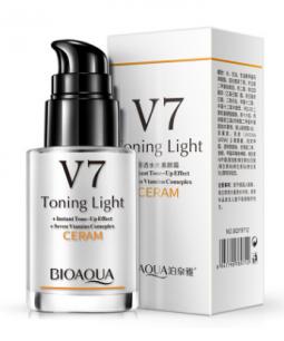 Кремовая сыворотка витаминная омолаживающая «BIOAQUA» V7 Toning Light.(9712)