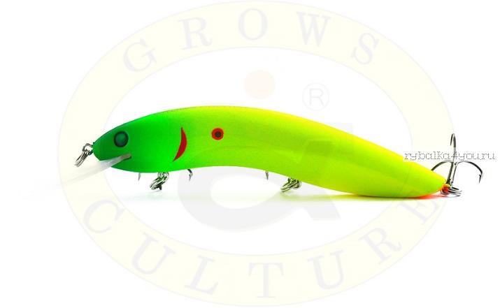 Воблер Grows Culture Flathead 120F 120 мм/ 13 гр/заглубление: 5+ м/ цвет: Q5  - купить со скидкой